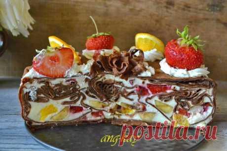 Торт блинный муссовый - Торты - Кулинарный форум мука