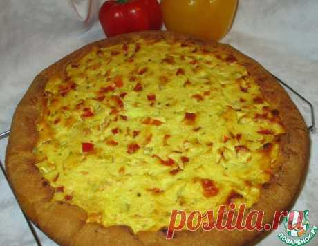 Открытый пирог с творогом и болгарским перцем – кулинарный рецепт