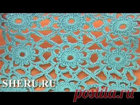 Join Method Crochet Motifs  Урок 7 Мотивы и соединение их в полотно