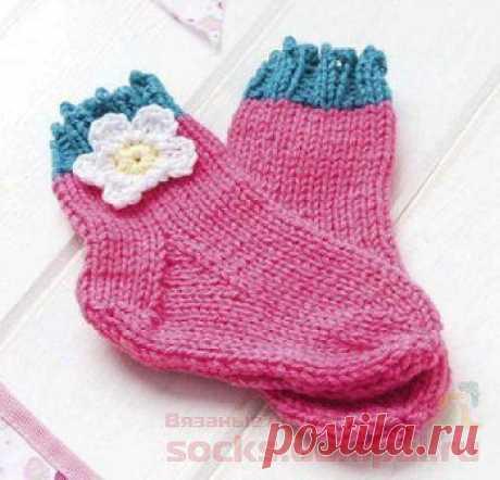 Детские носочки и пинетки «Сладкая ягода» | ВЯЗАНЫЕ НОСКИ