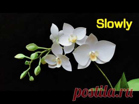 ABC TV | How To Make Phalaenopsis Orchid Paper Flower | Flower Die Cuts (Slowly) - Craft Tutorial