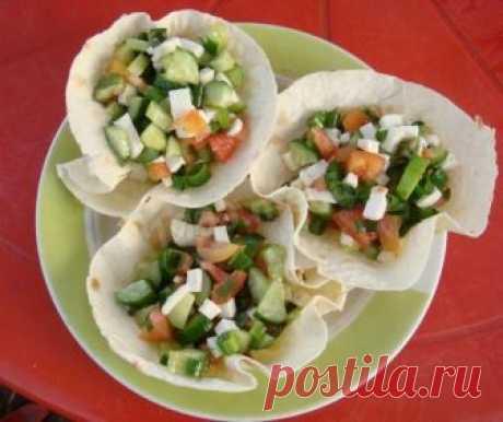 Салат в корзинке из лаваша рецепт с фото пошагово - 1000.menu