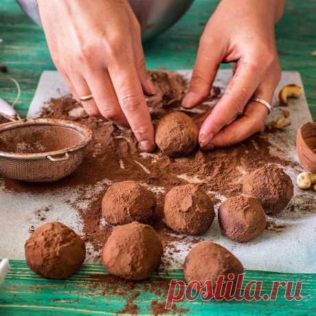 Десерты Шоколадно-кофейные трюфеля