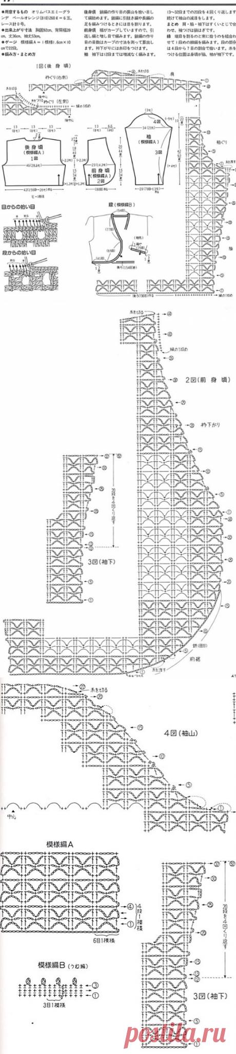 Вязание короткого жакета крючком