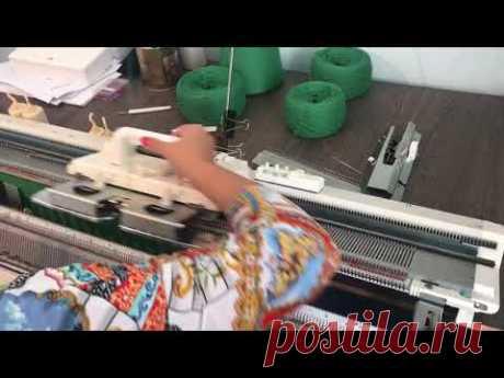 Машинное вязание брюк и кармана брюк - YouTube