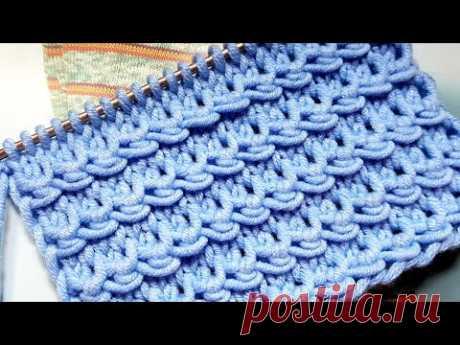 Вяжем фантастические волны спицами📣 knitting pattern.