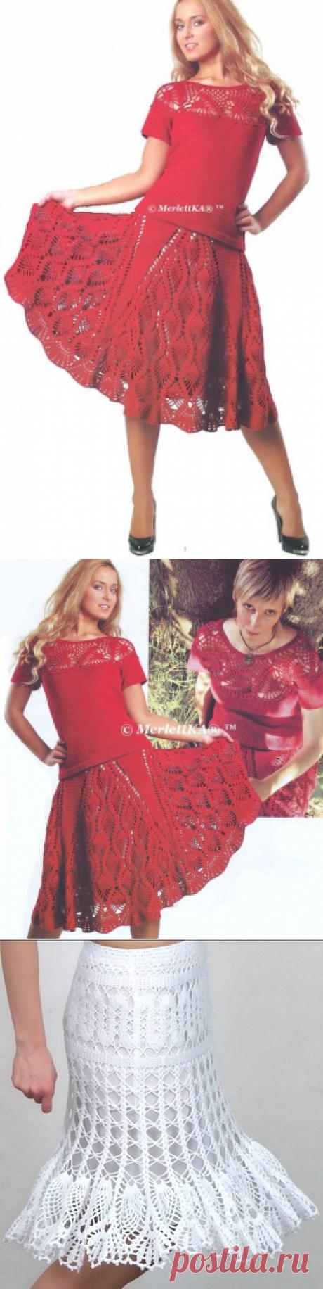 Комплект ( блуза и юбка ) - вязание крючком