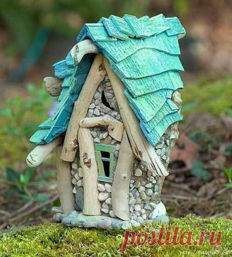 Миниатюрные домики. Идеи для сада