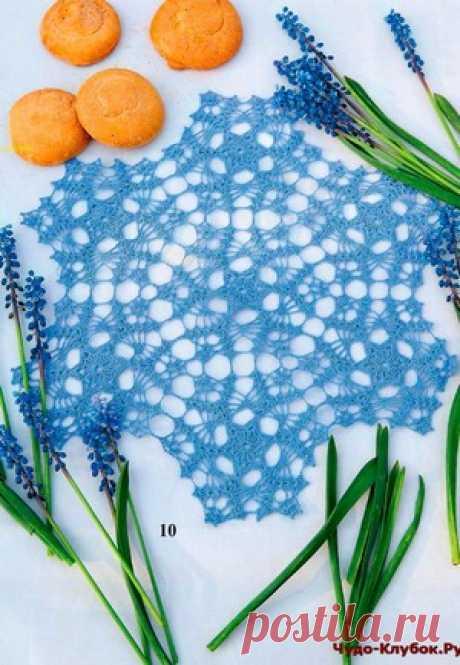 Салфетка зимняя из мотивов | ✺❁сайт ЧУДО-клубок ❣ ❂✺Салфетка зимняя из мотивов схемы и описание: ❂ ►►➤6 000 ✿моделей вязания ❣❣❣ 70 000 узоров►►Заходите❣❣ %