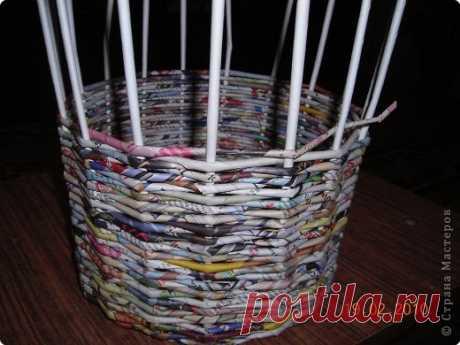 Мастер класс плетения из газеты для новичков