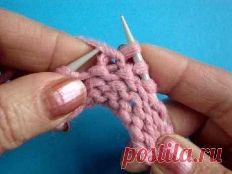 Урок 43 Скрещенная изнаночная петля вязание спицами Knitting basics
