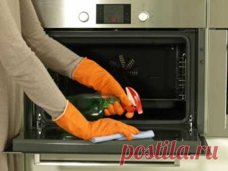 Как легко очистить от жира стекло духовки