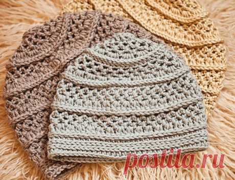Crochet hat PATTERN Textured Beanie sizes baby to adult | Etsy