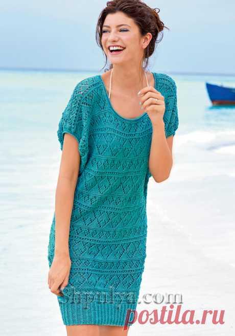 Платье-джемпер с ажурным узором - SHPULYA.com