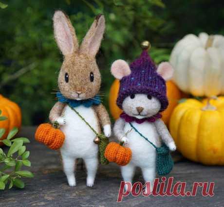 Мышиные истории: очаровательные валяные игрушки от Little Wool Tails   Журнал Ярмарки Мастеров