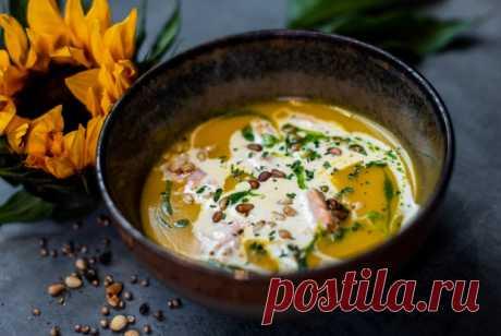Крем-суп из тыквы и лосося в сливках рецепт – европейская кухня: супы. «Еда»