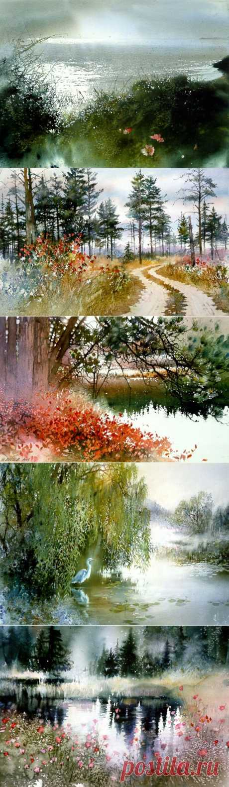 Удивительные акварельные пейзажи Nita Engle