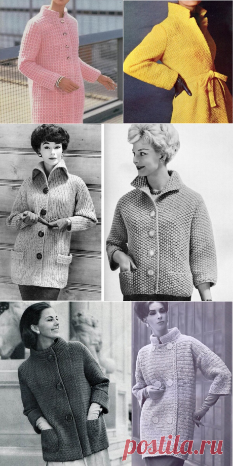 """Ретро-вязание: 8 моделей на весну (""""верх""""), которые можно повторить. И про смешного мужика 1987 года!   Записки Спицеманьяка   Яндекс Дзен"""