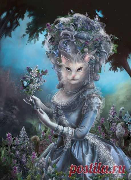 Кристина Хесс рисует кошек в виде исторических персонажей