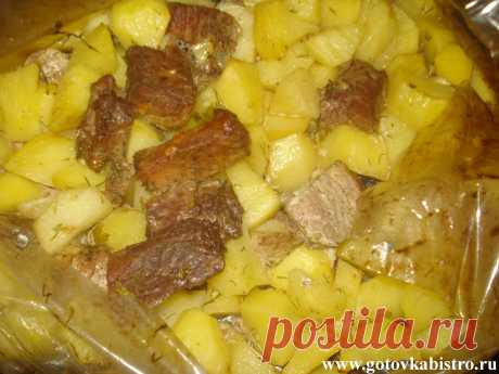 Свинина с картошкой, запеченная в рукаве