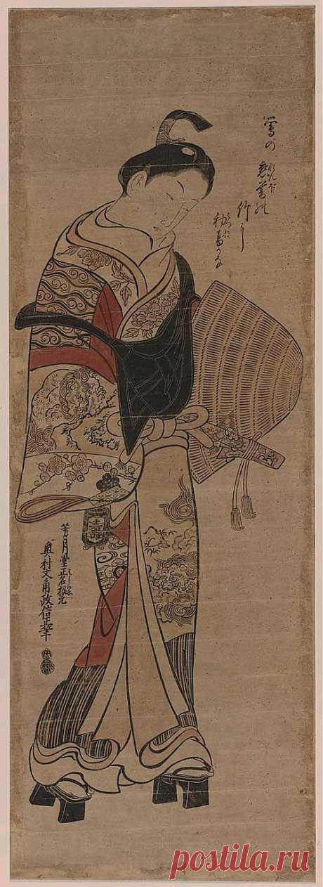 Гравюры Окумура Масанобу.