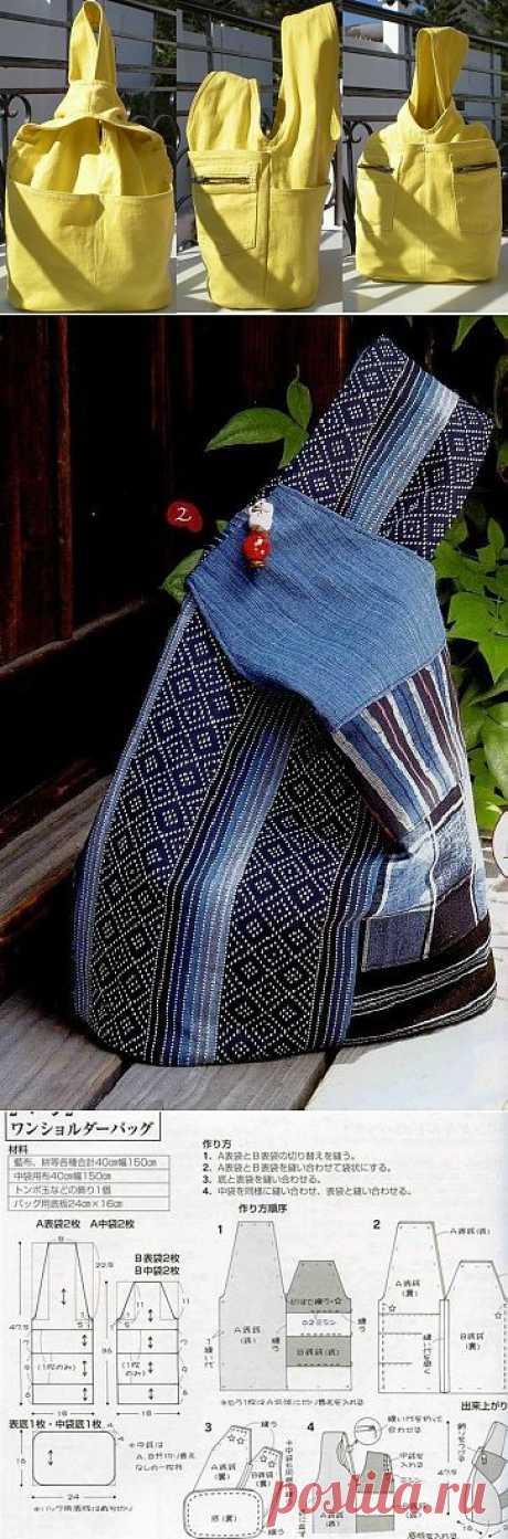 Шьем простую сумку из джинсов.