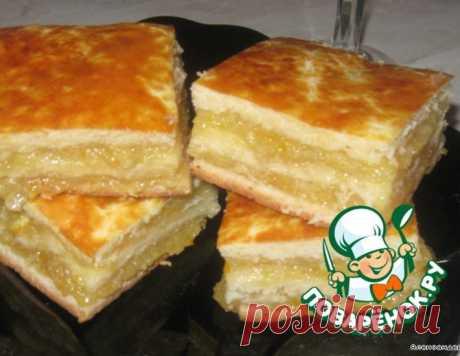 Пирог цитрусовый на дрожжах