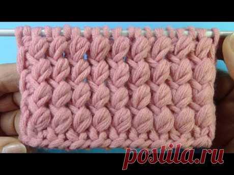 Начинаем вязать – Видео уроки вязания » Плотный узор для шапки – Узор вязания спицами №69