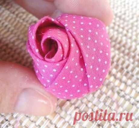 Мастерим бутоны роз из ткани 🌹 - Ярмарка Мастеров - livemaster.ru, мастер-классы, handmade