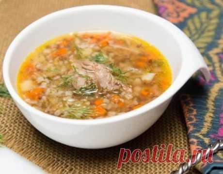 La sopa grechnevyy con la gallina | Praytaym
