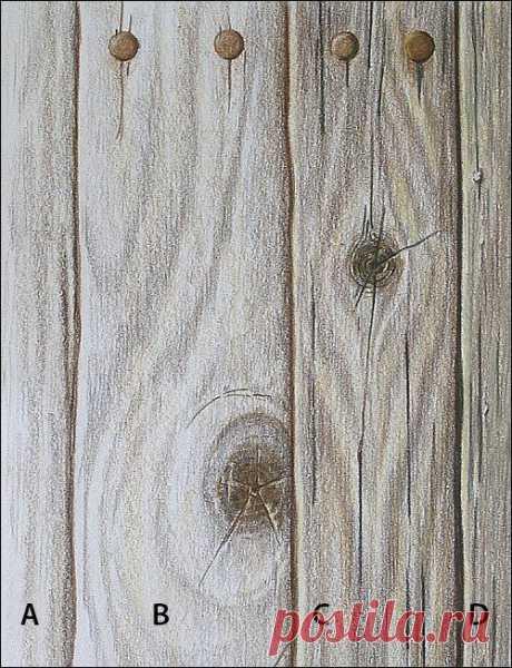 Урок рисования: деревянная текстура — Сделай сам, идеи для творчества - DIY Ideas