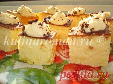 Творожный пудинг в мультиварке с апельсиновой цедрой | Вкусные Рецепты