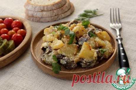 Картофель с грибами в сметане – кулинарный рецепт