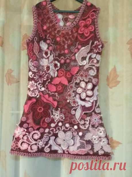"""Платье """"Вишнёвый блюз"""" из категории Мои работы – Вязаные идеи, идеи для вязания"""