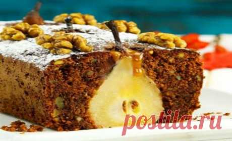 Очень вкусный пирог с грушей и грецкими орехами — Самый выгодный отдых