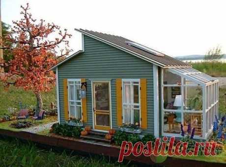 Дачный домик с оранжереей - классное решение для вашей дачи
