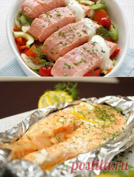 Семга в духовке, пошаговый кулинарный рецепт с фото / Простые рецепты