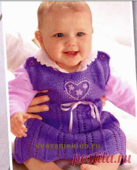 Сарафан для девочки - Для детей до года - Каталог файлов - Вязание для детей