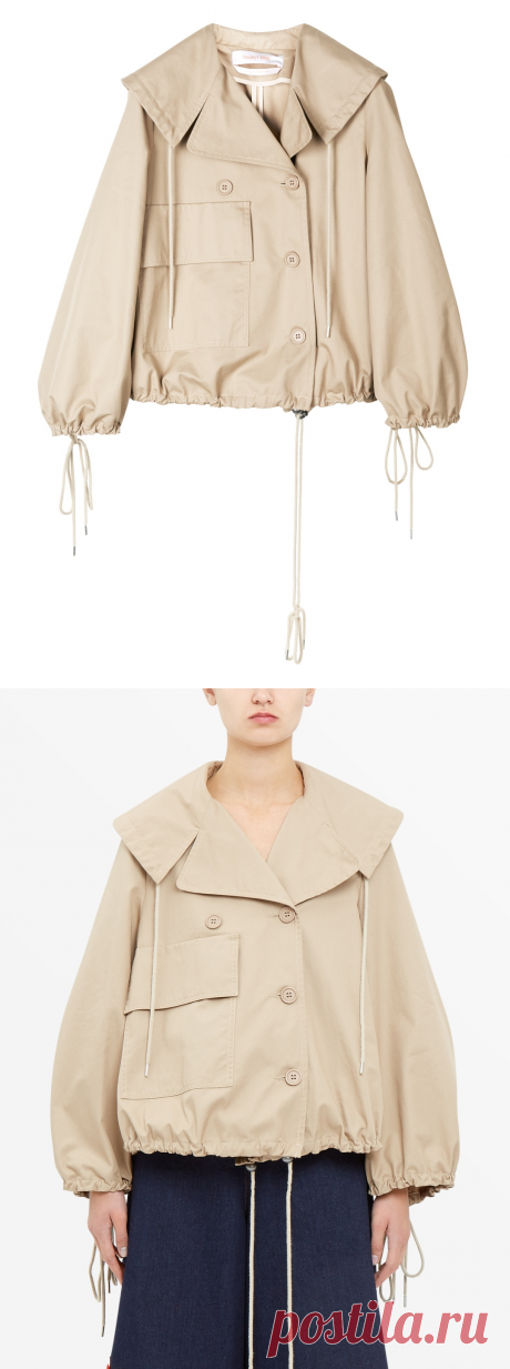 See By Chloé Cropped Cotton Jacket - Shop Online at Style.com