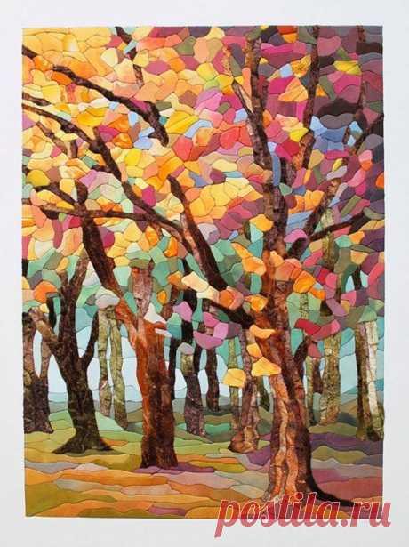 Осенний лес в технике кинусайга Осенний лес в технике кинусайга для тех, кто влюбился в этот вид рукоделия и ждал чего-то новенького.