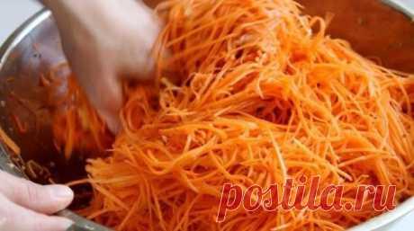Самая вкусная морковь по-корейски. Еле выпросила рецепт в Китайском кафе На 1 кг. моркови: 3 ст.л.сахара, 1 ч.л. соли, 1 ст.л. кориандра молотого, 2 ст.л. уксуса, 0,5 ч.л. черного молотого перца, щепотка красного молотого перца, 5 зубков чеснока, 100-150 грамм …