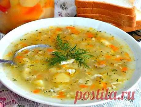 Как у бабушки в деревне — Суп-затируха. Просто и очень вкусно! | NashaKuhnia.Ru