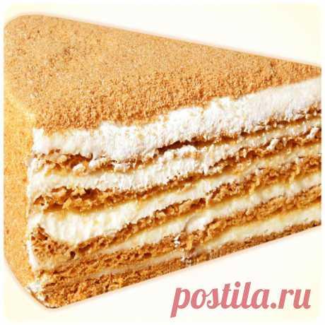 Торт Медовик.Ну очень вкусный рецепт).
