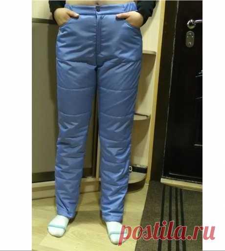 Мастер-класс: женские утепленные брюки | Шкатулка