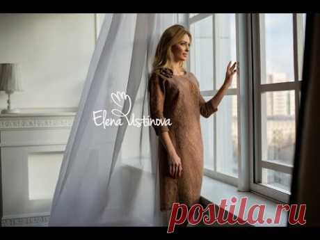 """Авторское платье валяное """"Жемчужно-перламутровое"""""""