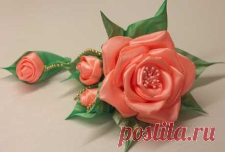 Розы из атласных лент своими руками. Как сделать букет: пошаговая инструкция, мастер класс канзаши для начинающих с фото, видео
