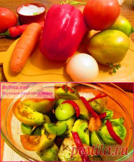 Самый вкусный рецепт зеленых помидоров по-корейски!..