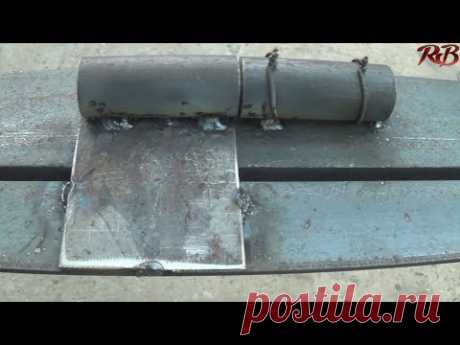 How to weld hinges loops on gate very strongly and beautifully the best way