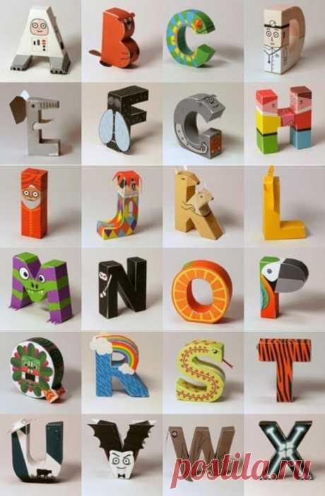 Английский бумажный алфавит. Шаблоны для вырезания.