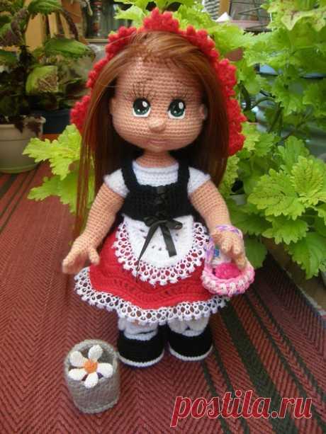 Красная шапочка. Вязаная жизнь.  игрушки.  Вязаная игрушка крючком. #краснаяшапочка #куклакраснаяшапочка #Вязанаяигрушкакрючком. #Вязанаякуклакрючком. #кукла. #куколка. #вязание. #вязанаякуколка. #вязанаяжизнь.  #амигурумикукла. #амигурумикуколка. #мастерклассповязаниюкрючком